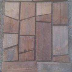 Kebony wood cuttings door mat
