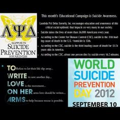 Lambda Psi Delta's Educational Campaign flyer from September 2012 #suicideprevention
