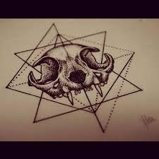 Resultado de imagem para cat skull tattoo