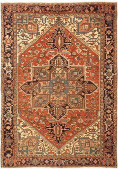 Heriz- Heriz rugs are Persian rugs from the area of Heris, East Azerbaijan in northwest Iran, northeast of Tabriz. Such rugs are produced in the village of the same name in the slopes of Mount Sabalan. Heriz carpets are durable and hard-wearing and they can last for generations.