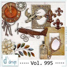 Vol. 995 - Vintage Mix  by Doudou's Design  cudigitals.com cu commercial scrap scrapbook digital graphics#digitalscrapbooking #photoshop #digiscrap