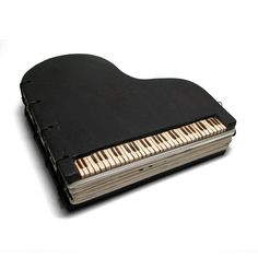Espresso Piano Concerto Wooden Journal With Music by tanjasova