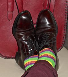 Johnston & Murphy shoes, Ralph Lauren socks, leather tote…