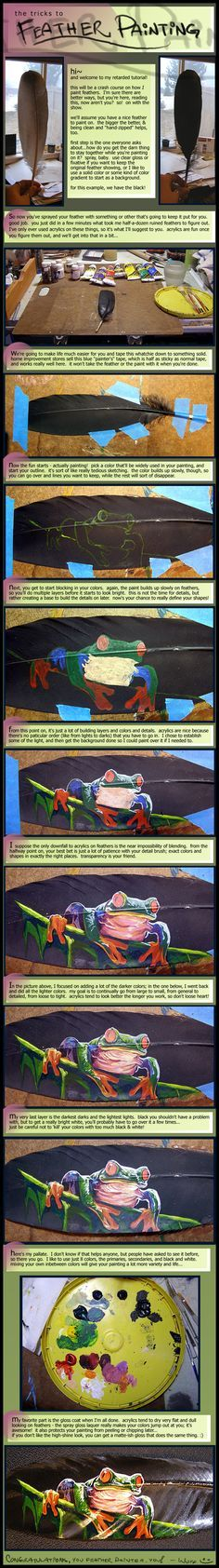 Feather Painting Tutorial by ~Novawuff on deviantART