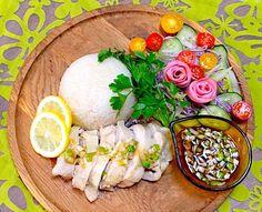 Sanntina's dish photo SINGAPORE CHIKEN RICE    炊飯器ひとつでワンプレートつくれちゃう  シンガポールチキンライス    もぐー mogoo | http://snapdish.co #SnapDish #レシピ #Main dish #Chicken #Rice #Singaporean cuisine