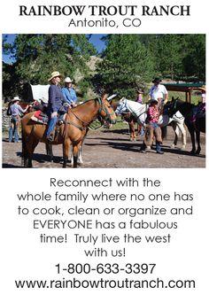 Sundance Kid, Teen Programs, Family Getaways, Rainbow Trout, Reunions, Family Adventure, Rio Grande, Worlds Of Fun, Horseback Riding
