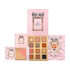 Makeup Gift Sets, Makeup Set, Glam Makeup, Beauty Makeup, Diy Beauty, Boxes And Bows, Neutral Makeup, Lipstick Set, Holiday Looks