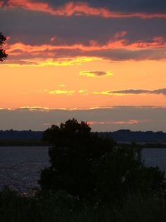 Sunset in Currituck on the Outer Banks of North Carolina. Photo by Jeryl Bauman    www.VillageRealtyOBX.com