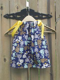 Whales Allover Pillowcase Dress or Twirl Skirt