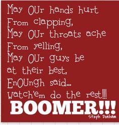 SOONER baby! Oklahoma University Football, Ou Football, Football Quotes, Football Season, Sports Wall, Boomer Sooner, Win Or Lose, It Hurts, Sports Teams