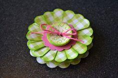 Cute flower tutorial using scalloped circles.....
