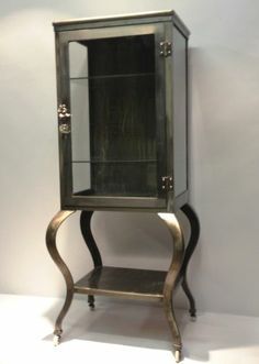 DEB-----Antique Steel 1920's Pharmaceutical MEDICAL CABINET Doctor/Dentist MEDICINE CASE EBAY  $1300.++++