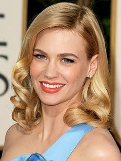 January Jones. People tell me I look like her at least once a week. I still don't see it, other than we're both blonde with blue eyes.