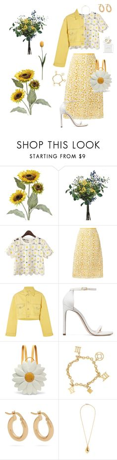 """""""Sunshine, Spring, Flowers"""" by sunshinemelly on Polyvore featuring Pier 1 Imports, Wyld Home, Miu Miu, Ganni, Stuart Weitzman, Charlotte Olympia, Anissa Kermiche, Kenneth Jay Lane, Marc Jacobs and Spring"""