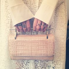 Good things do come in small packages, like this M2Malletier croc clutch. #NYFW #SS15