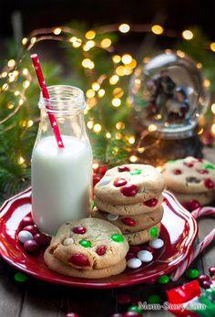 печенье с m&m's и шоколадом