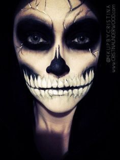 Halloween skull makeup #sugarpillmakeup