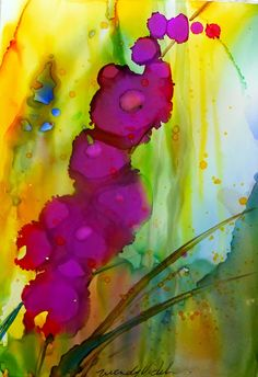 Alcohol inks on yupo art ideas алкогольные чернила, акварель, рисунки. Alcohol Ink Crafts, Alcohol Ink Painting, Alcohol Ink Art, Pintura Graffiti, Sharpie Art, Sharpies, Watercolor And Ink, Art Lessons, Flower Art