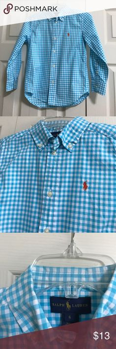 Ralph Lauren boy shirt Blue and white shirt form Ralph lauren Ralph Lauren Shirts & Tops