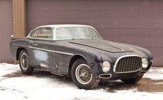 A barn find un-restored 1953 Ferrari 212 Inter Coupe by Vignale sold for 660,000K