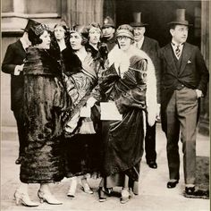 Do my eyes deceive me, or is that Sydney Mitford, Lady Redesdale (mother of the Mitford girls), in the backround, between Nada Milford Haven and the ...