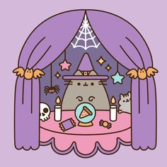 iphone wallpaper background pusheen the cat halloween fall autumn spooky witch wizard sorcerer pizza cats halloween wallpaper Kawaii Halloween, Art Halloween, Happy Halloween, Gato Pusheen, Pusheen Love, Kawaii 365, Kawaii Cute, Kawaii Drawings, Cute Drawings