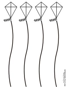 Kite Scissor Skills (curvy lines) - These free kite cutting sheets are fun for scissor skills practice and assessment. Download all 3!