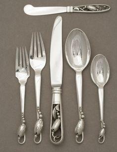 "Georg Jensen ""Blossom"" pattern, Handmade Sterling Silver"