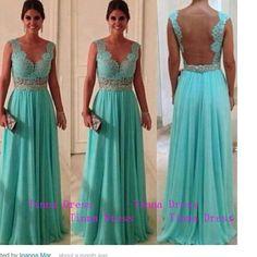 Lace Long Prom dress tiffany blue prom dresses long by TinnaDress, $158.00