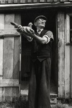By Sirkka-Liisa Konttinen, Jimmy Dodds, Dalton Street railway pigeon loft, Albion Row Allotments, June 1980