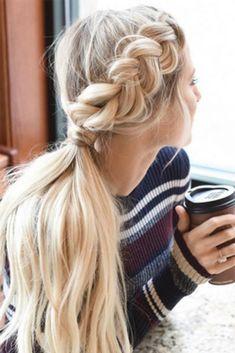 Long blonde hairstyles braid