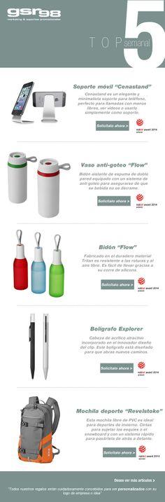 Hoy en nuestro top 5 semanal de #regalos de empresa… 5 #productos premiados en los Red Dot award 2014 que seguro potenciarán tu marca. No te lo pierdas.  http://www.regalodeempresagsr98.es/mail/01-04-14/