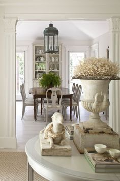 The Only Six White Paint Trim Colors You'll Need | Loi Thai's Swedish Gustavian home and dining room