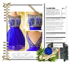 """""""Robe de Cocktail Pour Mariage A-ligne Col Rond Court/Mini Tulle # ZP497"""" by sophie-robelle ❤ liked on Polyvore featuring Arche, Boutique+ and Nivea"""