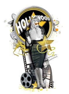 Hollywood Noir by ultracake on Polyvore featuring art, blackandwhite, dolls and ultracake