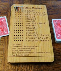 Frustration Rummy with Magnetic Close Storage Family Card Games, Fun Card Games, Party Games, Tech Deck, Dice Games, Games To Play, Wood Games, Wooden Board Games, Vsco