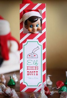 Elf on the Shelf Kissing Booth - Free Printable