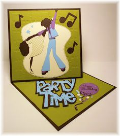 Party time twisted easel card Mag Challenge DT