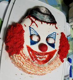 Halloween by Heather Arbiter Clown Cake, Scary Clowns, Halloween 2016, Cakes, Desserts, Tailgate Desserts, Deserts, Cake Makers, Kuchen