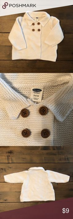Baby girl knit cardigan Perfect condition! I loved this cardigan, wish it still fit my daughter! Old Navy Jackets & Coats