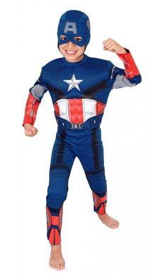 Fantasia Infantil Capitão America Premium Rubies Marvel Original :: FantasiasCarol