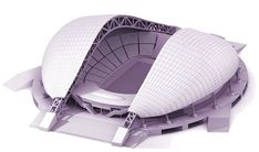 Stadiums have changed over time, but their purpose remains the same: to allow us to collectively marvel at astounding physical feats. Where will the future of stadium design take us? Stadium Architecture, Concept Architecture, Architecture Design, Landscape Architecture, Roof Structure, Building Structure, Building Design, Soccer Stadium, Football Stadiums