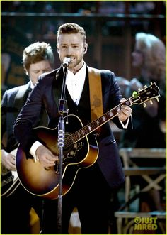 Justin Timberlake: 'Drink You Away' at AMAs 2013 (Video)   2013 American Music Awards, Justin Timberlake Photos   Just Jared
