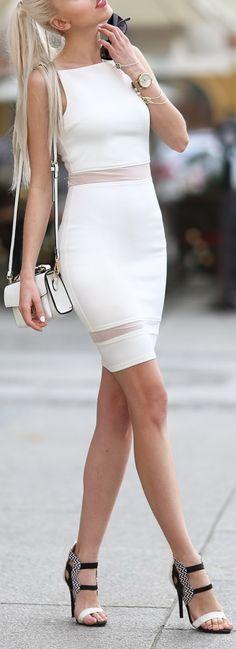 Little White Dress by Meri Wild