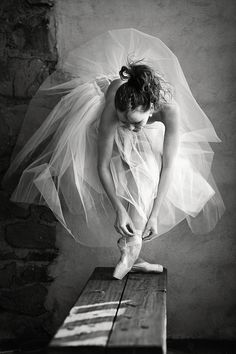 Ballerina black and white photography
