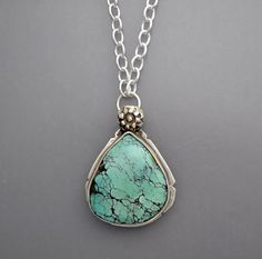 Spiderweb Turquoise Necklace by Temi on Etsy