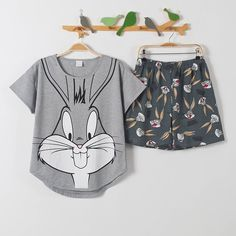 pajama sets on sale at reasonable prices, buy short pants + short sleeve tops pajamas sets cotton nightwear big yards M-XXL cartoon pyjamas women summer sleepwear from mobile site on Aliexpress Now! Cute Pajama Sets, Cute Pajamas, Pajamas Women, Silk Pajamas, Cotton Nightwear, Cute Sleepwear, Girls Sleepwear, Loungewear, Pajama Outfits