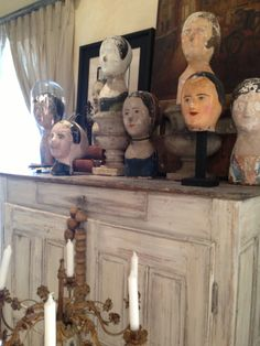 More antique milliner heads