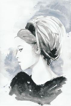 Bridget Bardot in watercolor...