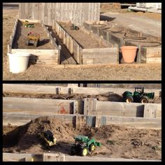Fun backyard idea for farm kids - way better than a sandbox!